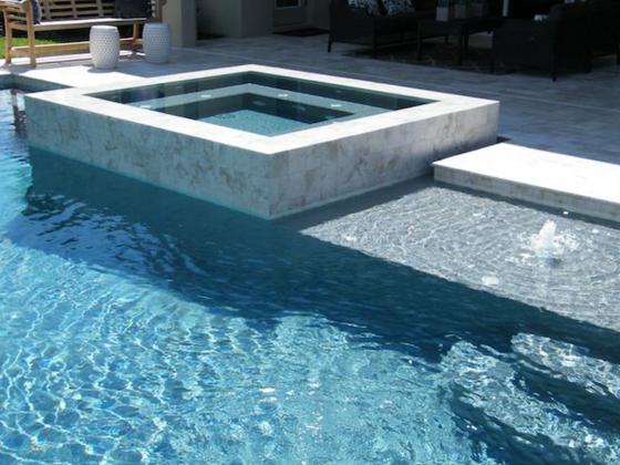 Custom Modern Raised Pool Spa