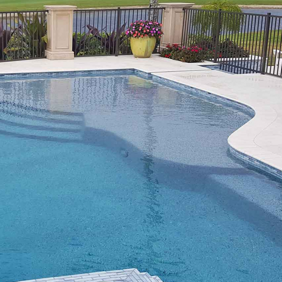 Corner Pool Sunshelf