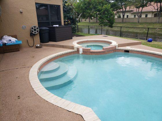 Before Pool Deck Remodeling
