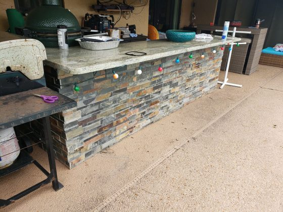 Pool Bar - Before Outdoor Kitchen