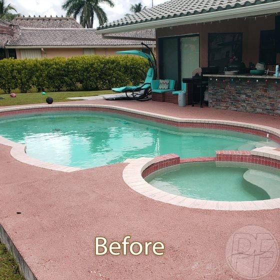 Pool & Deck Remodeling - Before