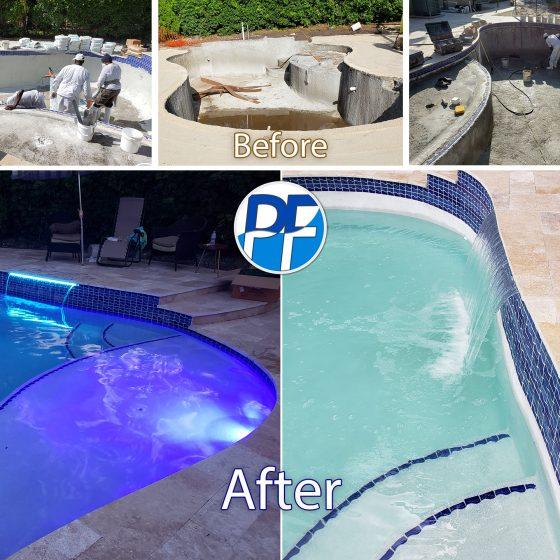 Pool & Deck Remodeling - Sun shelf - LED Lighting