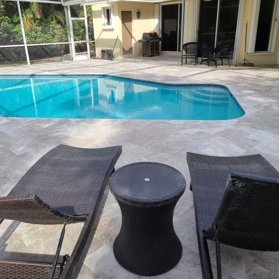 Pool & Deck Remodeling - Grey Travertine