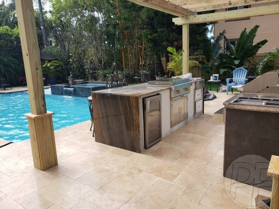 Pool, Deck & Outdoor Kitchen Renovation - Pools Finishing Inc.