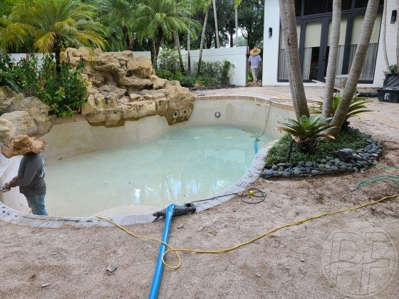 Pool & Deck Remodeling - Getting Ready for Pool Resurfacing- Pools Finishing Inc.