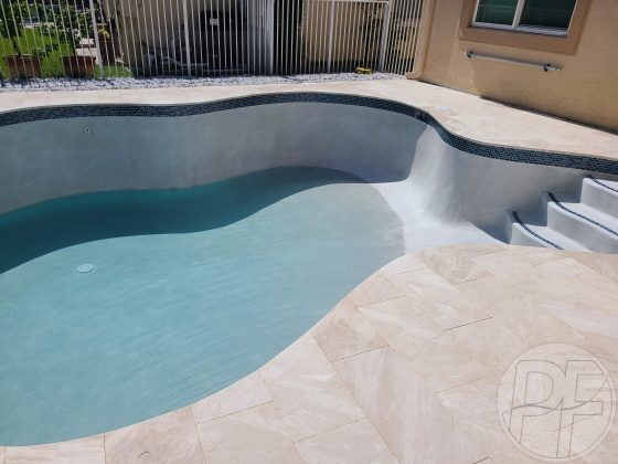 Pool & Deck Remodel Ready to Fill - Pools Finishing Inc