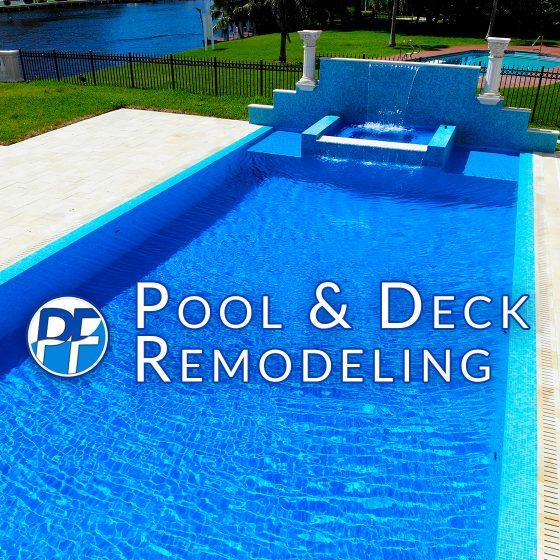 Pool & Deck Remodeling - Azure Blue Finish
